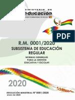001 2020 Ed. Regular
