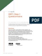 MBTI Questionnaire