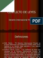 CONFLICTO DE LEYES