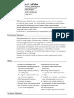Health & Safety Professioanl CV