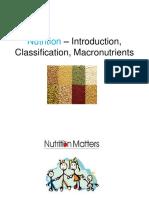Nutrition – Introduction, Classification, Macronutrients nisha