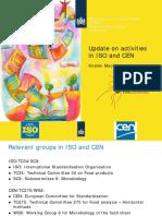 2017 Kirsten Mooijman - Update on activities in ISO and CEN