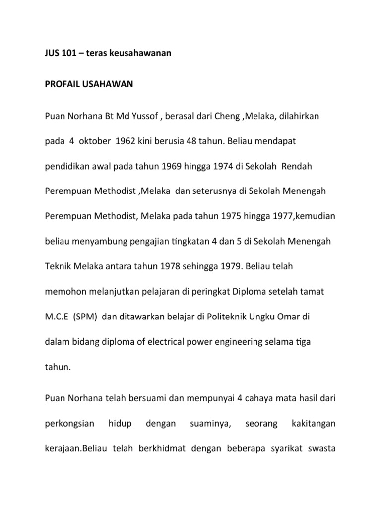 Profail Usahawan