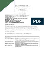 PRASES 1 Course Syllabus version 1.3