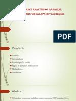 analysis of parallel prefix adder