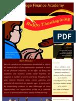 Newsletter November 22, 2010