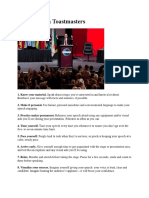 90 Tips From Toastmasters