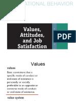 Values, attitudes and job satisfaction
