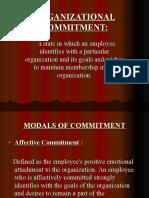 Organizational Commitment