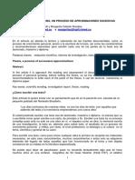 LA ESCRITURA DE LA  TESIS, UN PROCESO DE APROXIMACIONES SUCESIVAS (1)