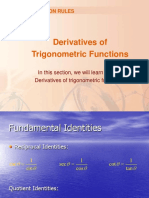 Derivatives of Trigo Functions