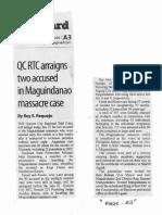 Manila Standard, Jan. 21, 2020, QCRTC arraigns in Maguindanao massacre case.pdf