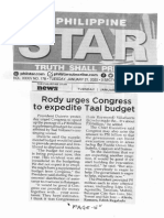Philippine Star, Jan. 21, 2020, Rody urges Congress to expedite Taal budget.pdf