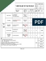 SB2-M-T-HA-0105-R2 Shop Inspection and Test Plan for Boiler._p08-09