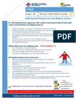 Safety Flash 1062 - Safe Start 2020 -Working and Walking on Ice and slipery surface