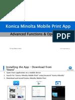 Mobile Print - Konica Minolta Mobile Print job shop