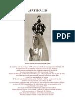 FatimaIII 90 Aniversario de Las Apariciones