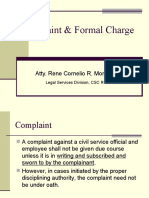 Complaint & Formal Charge