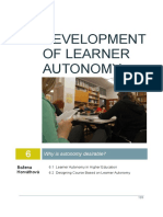 Development of Learner Autonomy