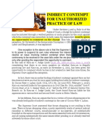 2. INDIRECT CONTEMPT FOR UNAUTHORIZED PRACTICE OF LAW