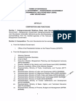 Terms of Reference of the National Government - Bangsamoro Government Intergovernmental Relations Body (IGRB) Secretariat