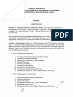 Terms of Reference of the National Government - Bangsamoro Government Intergovernmenal Relations Body (IGRB)