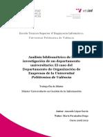 López - Análisis bibliométrico de la investigación de un departamento universitario_ El caso del ...