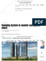 Damping System to counter earthquake effect _ Living Spaces _ Daily Tribune