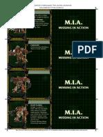 Space Hulk 3rd Edition - space marine card template