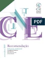 Recomendação sobre Educação Ambiental - Conselho Nacional de Educação