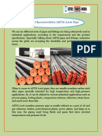 General Characteristics ASTM A106 Pipe