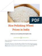 Rice Polishing Wheel Prices & Other Details