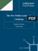 The New Public Leadership Challenge 2010