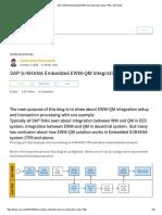 SAP S_4HANA Embedded EWM-QM Integration Setup-1709 _ SAP Blogs