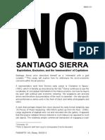 Walton - Santiago Sierra. Exploitation, Exclusion, And the 'Immiseration' of Capitalism