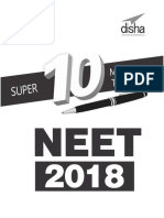 Super 10 Mock Tests for NEET 20 - Disha Experts.pdf