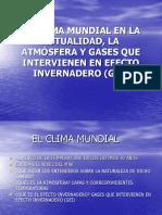 EL CLIMA MUNDIAL EN LA ACTUALIDAD