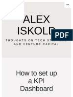 How to set up a KPI Dashboard for your Pre-seed and Seed Stage Startup – Alex Iskold