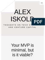 Your MVP is minimal, but is it viable? – Alex Iskold