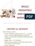 PEDIATRIC Anes basic