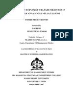 A Study on Employee Welfare Measures