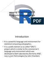 01 - Getting oriented with R programming language