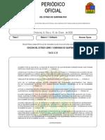 Periodico Oficial ORDINARIO 2020-01-15 Licencia Nizuc