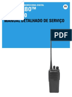 Motorola DEP450 UHF Radio - Manual Detalhado de Serviço