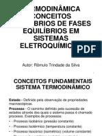 AULA 1 TERMODINÂMICA_CONCEITOS_EQUILÍBRIOS DE FASE_EQ EM SISTEMAS ELETROQUÍMICOS