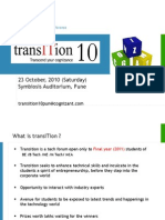 Transition 10 - PUNE (23 9 2010)