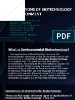 APPLICATIONS OF BIOTECHNOLOGY IN ENVIRONMENT by GROUP 5.pptx