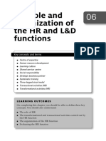 Chapter6 - The role and organization of the HR and L and D functions