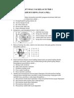 XI Pemeliharaan Sasis dan Pemindah Tenaga Kendaraan Ringan (Khusus Siswa Pasca PKL XI TKRO 1)
