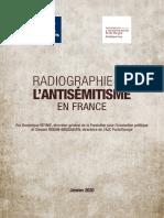 RADIOGRAPHIE DE L'ANTISÉMITISME EN FRANCE
